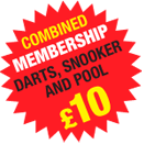 Combined Membership for Darts, Snooker and Pool